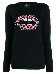 Markus Lupfer sequin mouth jumper - Blue