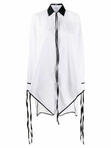 Loewe fringed pointed hem elongated shirt - White