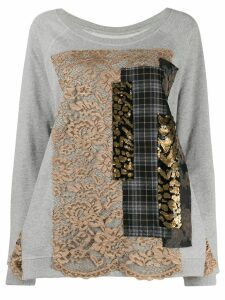 Antonio Marras patchwork sweatshirt - Grey