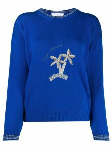 Giada Benincasa embroidered knitted jumper - Blue