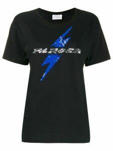 P.A.R.O.S.H. embellished logo T-shirt - Black