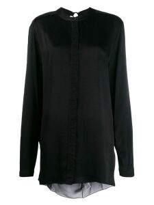 Diesel Black Gold open-back draped shirt
