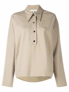 Tibi stretch knit oversized top - NEUTRALS