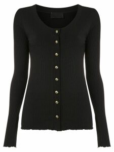 Andrea Bogosian ribbed button-up cardigan - Black