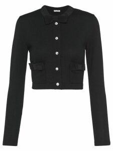 Miu Miu bow details cardigan - Black