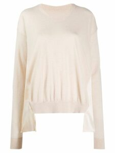 Uma Wang draped cashmere jumper - NEUTRALS