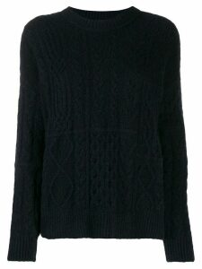 Roberto Collina cable knit jumper - Blue