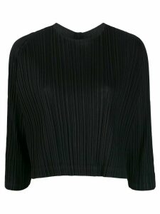 Pleats Please Issey Miyake high-neck draped top - Black