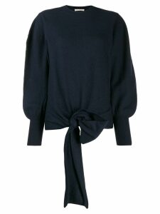 Ulla Johnson tie-waist oversized jumper - Blue