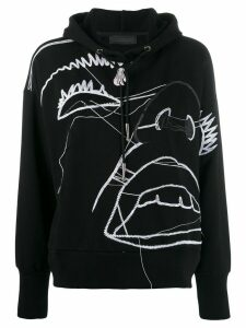 Diesel Black Gold illustrated pattern hoodie