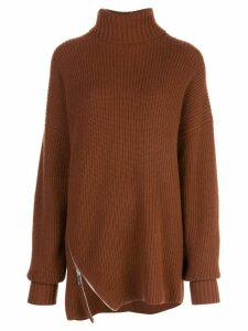 Tibi ribbed turtleneck sweater - Brown