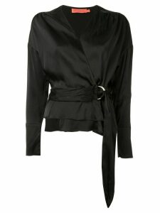 Manning Cartell v-neck wrap blouse - Black
