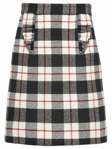 Miu Miu check A-line skirt - Black