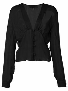 Nili Lotan sheer chiffon blouse - Black