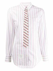 Thom Browne Trompe L'Oeil bow tie shirt - White