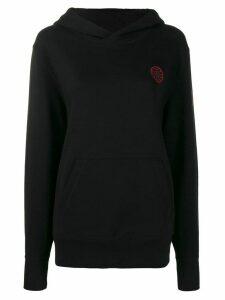A.F.Vandevorst logo knit hoodie - Black