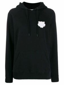 Kenzo tiger patch hoodie - Black