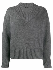 Joseph v-neck boxy-fit jumper - Grey