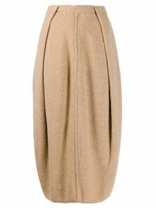 Jil Sander balloon-shape midi skirt - Brown