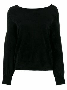 Roberto Collina dropped shoulder jumper - Black