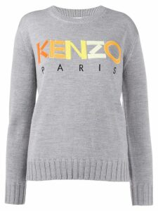 Kenzo embroidered logo sweater - Grey