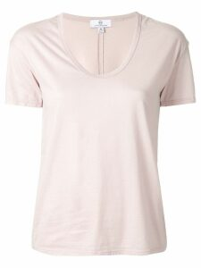 AG Jeans short-sleeve fitted T-shirt - PINK