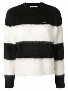 Bella Freud striped long-sleeve sweater - White