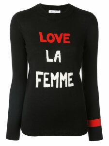 Bella Freud Love La Femme slogan sweater - Black