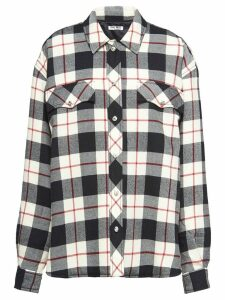 Miu Miu plaid shirt jacket - Black