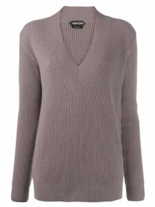 Tom Ford cashmere v-neck jumper - PURPLE