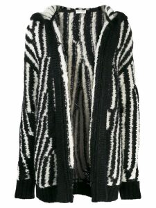 Saint Laurent oversized knitted cardigan - Black