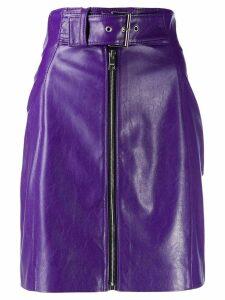 MSGM high-waist belted mini skirt - PURPLE