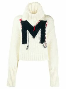 Moncler intarsia M sweater - White
