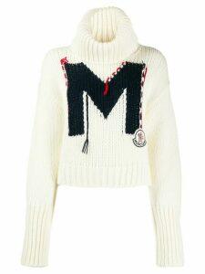 Moncler intarsia M sweater - White