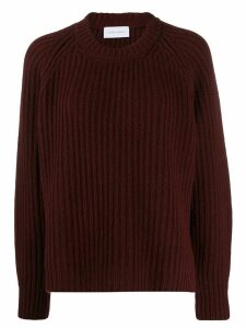 Christian Wijnants oversized rib knit jumper - Red