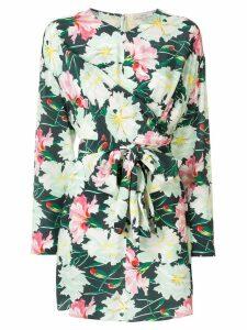 Layeur floral wrap blouse - Green