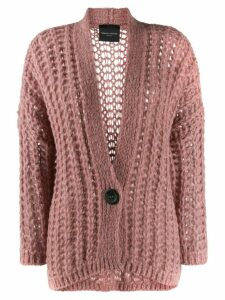 Roberto Collina oversized knit cardigan - PINK