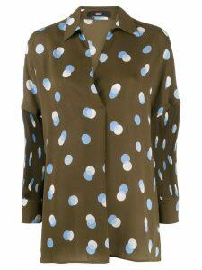 Steffen Schraut polka dot blouse - Green