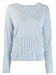Derek Lam 10 Crosby Twilight Wool Cashmere Wooster V-Neck Sweater -