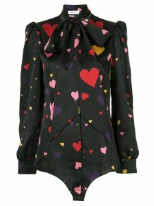 Racil neck-tied heart blouse - Black