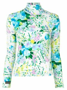 Richard Quinn floral turtle-neck top - Multicolour