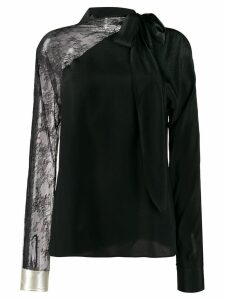 Philosophy Di Lorenzo Serafini embroidered lace panel blouse - Black