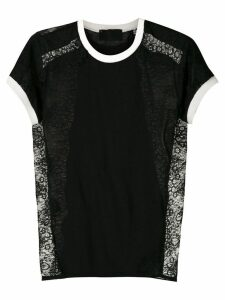 Andrea Bogosian lace panels T-shirt - Black