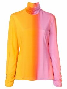 Ellery tie-dye long-sleeve top - Yellow