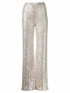 L'Autre Chose sequin high waisted trousers - SILVER