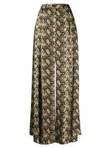 Nili Lotan wide-leg flared trousers - Brown