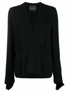 Erika Cavallini Margot V-neck blouse - Black