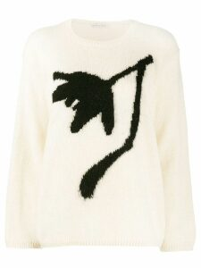 Stefano Mortari floral embroidered sweater - White
