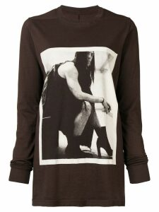 Rick Owens DRKSHDW long sleeve T-shirt - Brown