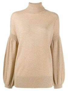 Zimmermann bishop sleeve jumper - NEUTRALS